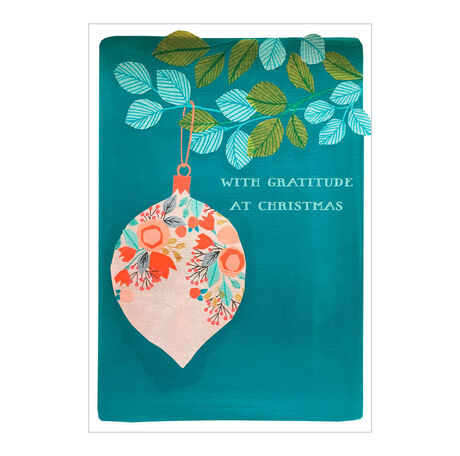 Christmas Appreciation Card (Illustrated Ornament) for Business