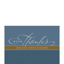 Company Thank You Personalized Cover Hallmark Business Card