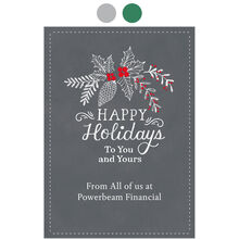 Happy Holidays Chalk Holly Design Your Own Business Hallmark Card