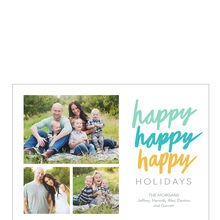 Happy, Happy, Happy Holidays Business Photo Collage Card
