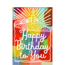 Colorful Happy Birthday Cake Business Hallmark Card