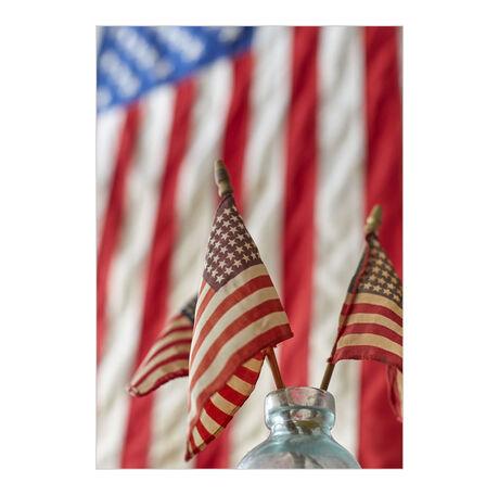 American Flags Patriotic Business Hallmark Card