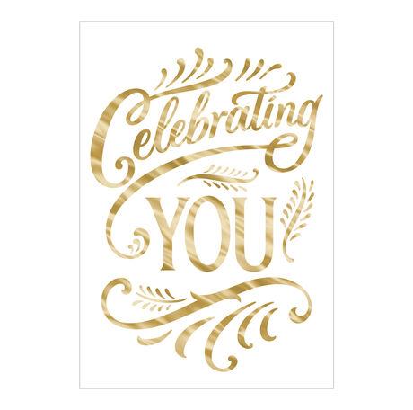 Celebrating Your Birthday Business Hallmark Card