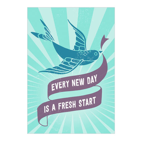 Fresh Start Every Day Health Business Hallmark Card