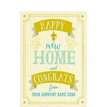 Happy New Home Personalized Cover Business Hallmark Card
