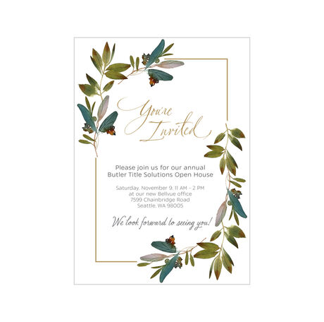 You're Invited Leaves Design Your Own Hallmark Invitation