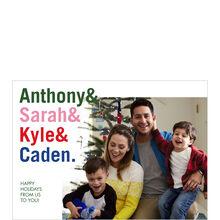 Family Names Holiday Photo Card