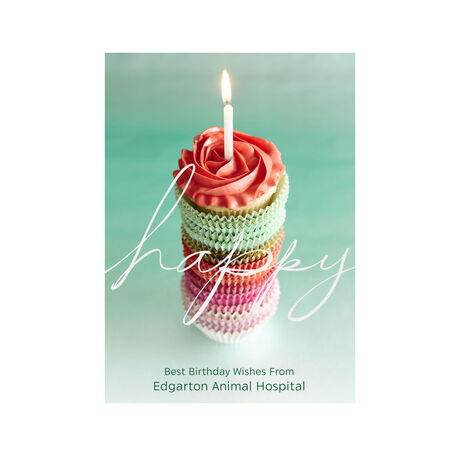 Birthday Cupcake Stack Design Your Own Business Hallmark Card