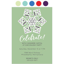 Celebrate Snowflake Design Your Own Business Hallmark Holiday Invitation