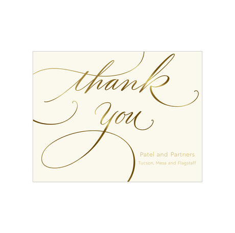 Shining Thank You Design Your Own Business Hallmark Note Card