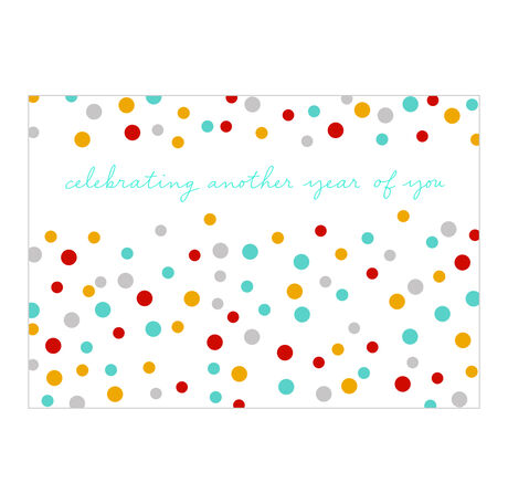 Colorful Year of You Birthday Business Hallmark Card