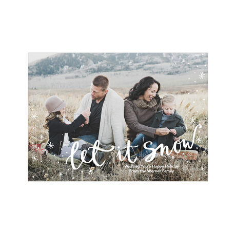 Let It Snow Hallmark Full Photo Holiday Card