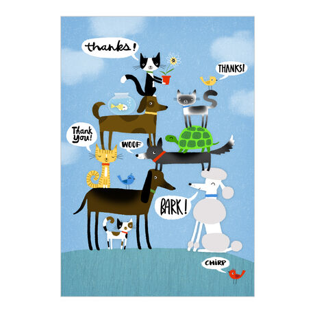 Pets with Appreciation Business Hallmark Card