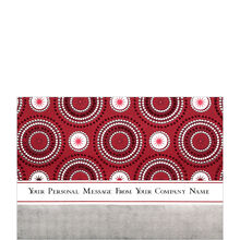 Red Stars and Circles Personalized Cover Business Hallmark Card