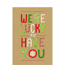 Lucky to Have You Holiday Business Hallmark Card