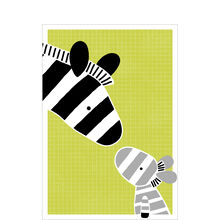 New Baby Card (Zebra Family) for Business
