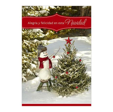 Christmas Snowman Spanish Business Hallmark Card