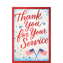 Thanks for Service Flags & Stars Military Appreciation Card