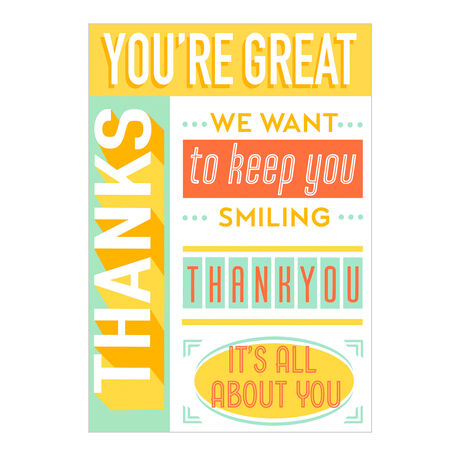 Keep You Smiling Customer Appreciation Hallmark Card