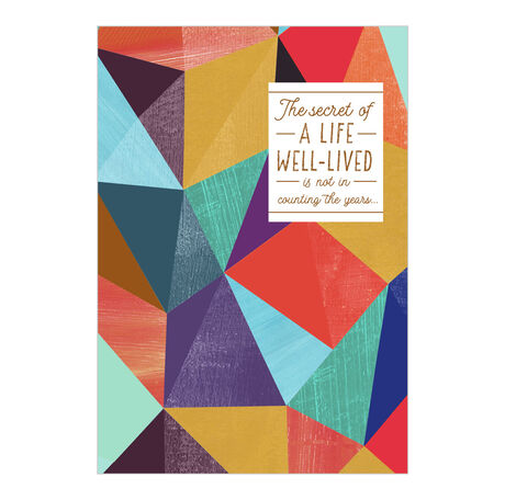Secret of Life Birthday Business Hallmark Card