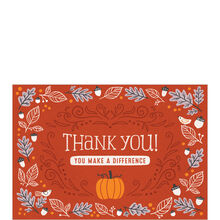 Make a Difference Thanksgiving Card