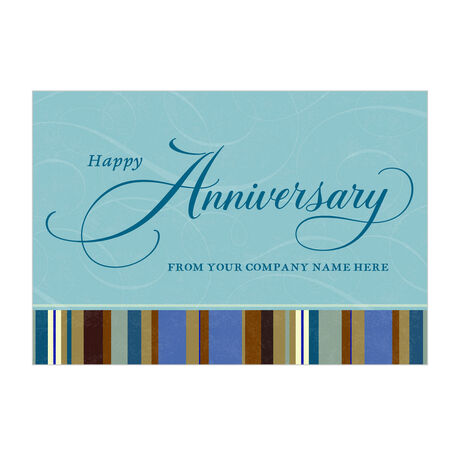 Company Anniversary Personalized Cover Hallmark Business Card