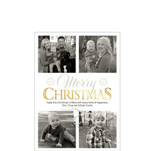 Shimmering Christmas Business Photo Collage Card