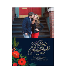 Christmas Blooms Business Hallmark Photo Card