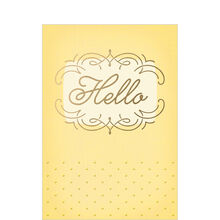 Conversation or Introduction Card (Elegant Hello) for Customers & Prospects