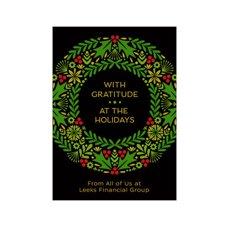 Holiday Wreath Design Your Own Business Hallmark Card