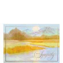 Sympathy Card (Golden Mountains & River) for Business