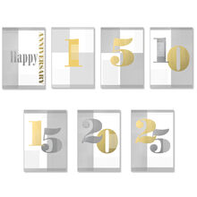 Assorted Work Milestone Anniversary Cards, 25 Pack