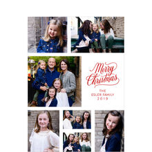 Red Merry Christmas Photo Collage Hallmark Card