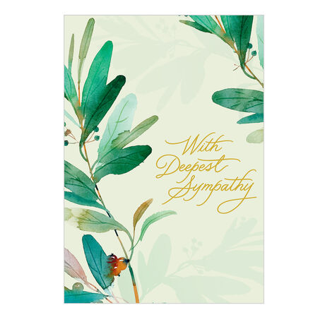 Sympathy Card (Peaceful Plants) for Business