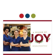 Season of Joy Holiday Business Hallmark Photo Card