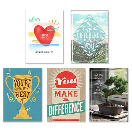 Assorted Appreciation Cards for Healthcare, Social Workers and Teachers, 25 Pack