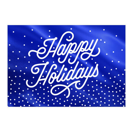 Shining Blue Happy Holidays Business Hallmark Card