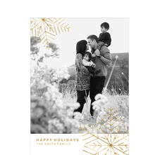 Shimmering Modern Snowflakes Hallmark Holiday Photo Card