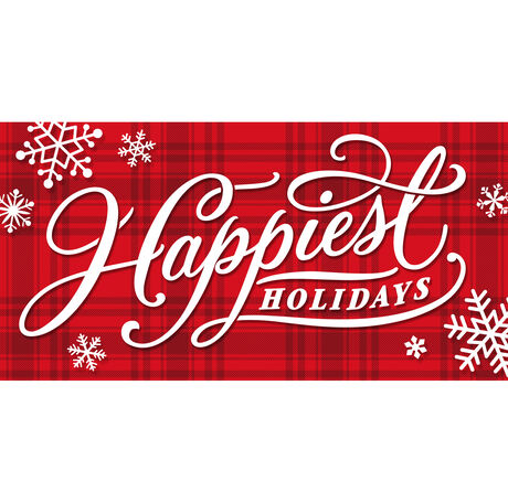 Happiest Holidays Plaid Business Hallmark Card