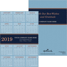 2019 Blue Diamond Paper Calendar Card
