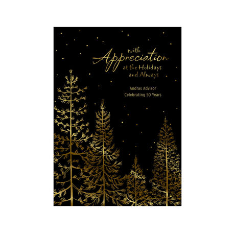 Customizable Holiday Appreciation Card (Pine Forest) for Business