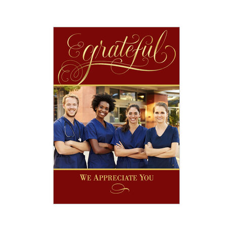Grateful Lettering Thanksgiving Business Hallmark Photo Card