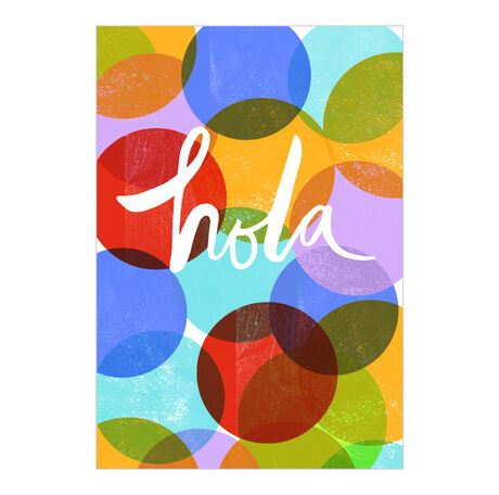 Bright Circles Hello Spanish Business Hallmark Card