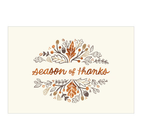 Thanksgiving Appreciation Card (Season of Thanks) for Business