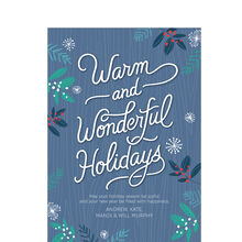 Warm, Wonderful Holidays Design Your Own Hallmark Card