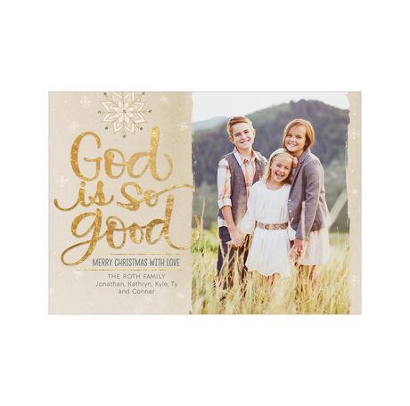 God Is Good Hallmark Religious Christmas Photo Card