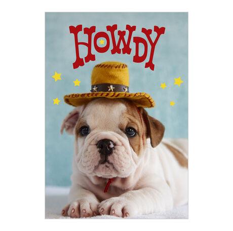 Puppy Howdy Customer Appreciation Hallmark Card