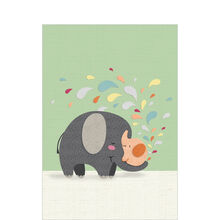 Cut-Paper Elephants Baby Business Hallmark Card