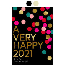 Customizable New Year Card (Happy 2021 Confetti) for Business