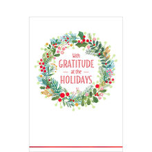 Holiday Happiness Wreath Business Hallmark Card